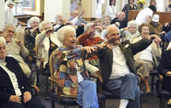 Country Meadows residents give Laughter Yoga a try (Express-Times Photo | BILL ADAMS)