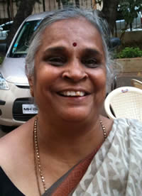 Neeta Fadia, 68, says Laughter Yoga has helped her greatly walk again without pain.