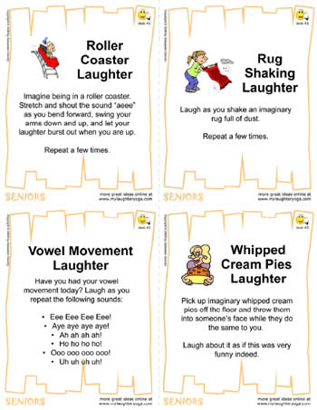 The #2 Laughter Yoga Card Deck For Seniors